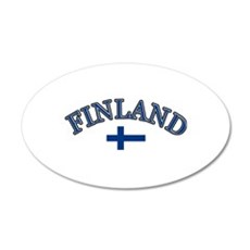 Finland Soccer Designs 20x12 Oval Wall Decal