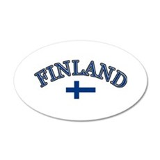 Finland Soccer Designs 35x21 Oval Wall Decal