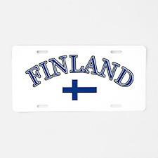 Finland Soccer Designs Aluminum License Plate
