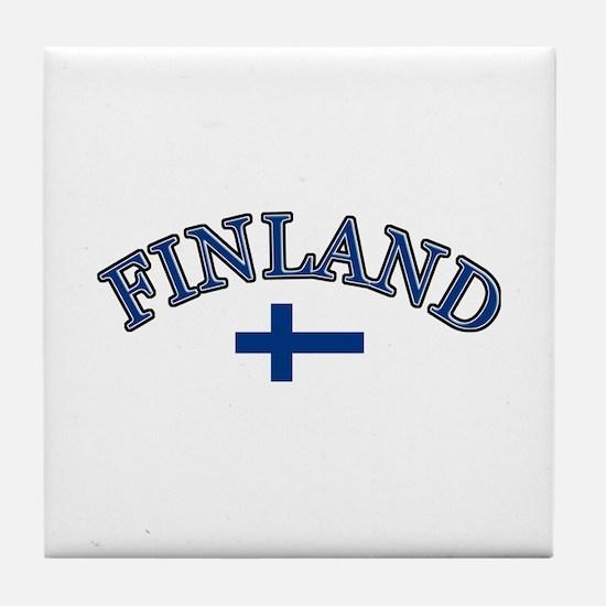 Finland Soccer Designs Tile Coaster