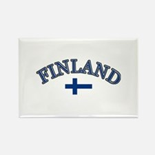 Finland Soccer Designs Rectangle Magnet