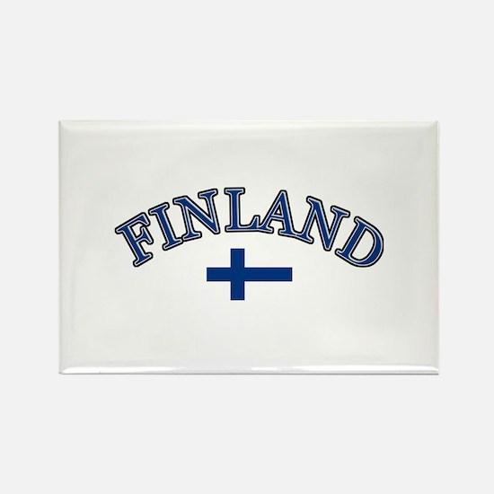 Finland Soccer Designs Rectangle Magnet
