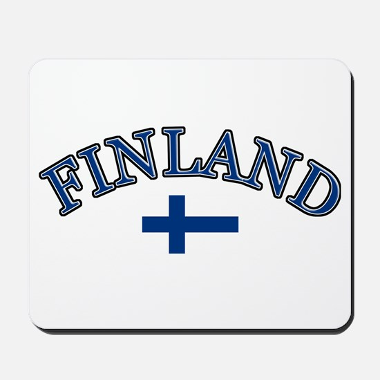 Finland Soccer Designs Mousepad