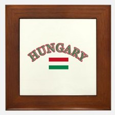 Hungary Soccer Designs Framed Tile