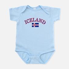 Iceland Soccer Designs Infant Bodysuit