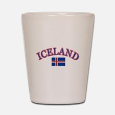 Iceland Soccer Designs Shot Glass