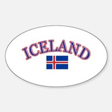 Iceland Soccer Designs Sticker (Oval)