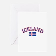Iceland Soccer Designs Greeting Cards (Pk of 10)