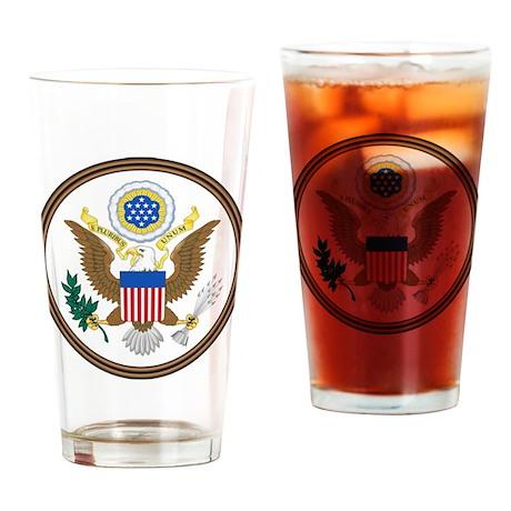 USA Seal Drinking Glass