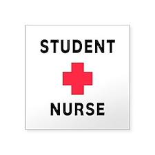"Student Nurse Square Sticker 3"" x 3"""