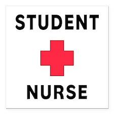 "Student Nurse Square Car Magnet 3"" x 3"""