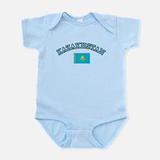 Kazakhstan Soccer Designs Infant Bodysuit