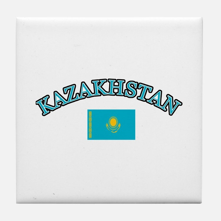 Kazakhstan Soccer Designs Tile Coaster