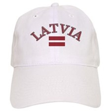 Latvia Soccer Designs Baseball Cap