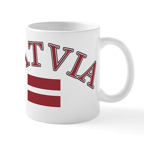 Latvia Soccer Designs Mug