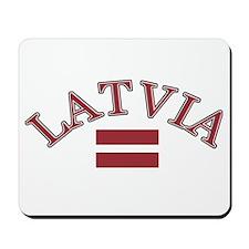 Latvia Soccer Designs Mousepad
