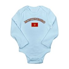 Montenegro Soccer Designs Long Sleeve Infant Bodys