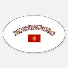 Montenegro Soccer Designs Sticker (Oval)