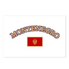 Montenegro Soccer Designs Postcards (Package of 8)