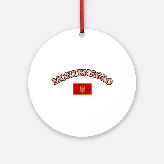 Montenegro Soccer Designs Ornament (Round)