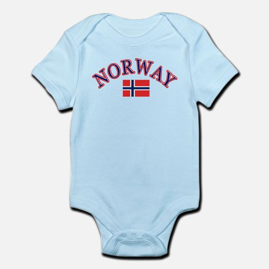 Norway Soccer Designs Infant Bodysuit