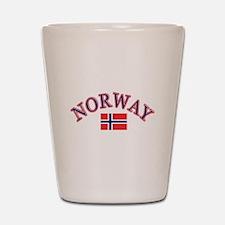 Norway Soccer Designs Shot Glass