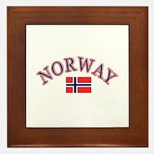 Norway Soccer Designs Framed Tile