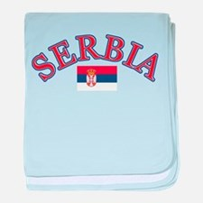 Serbia Soccer Designs baby blanket