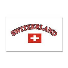 Switzerland Soccer Designs Car Magnet 20 x 12