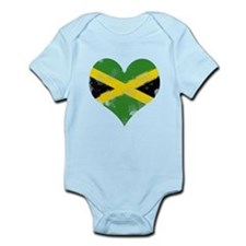 A Jamaican Heart Infant Bodysuit