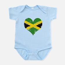 A Jamaican Heart Onesie