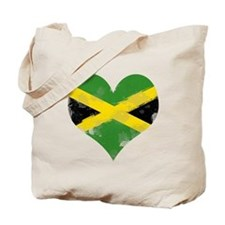 A Jamaican Heart Tote Bag
