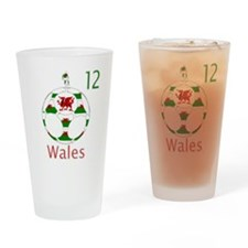 wales dragon football design 12 Drinking Glass