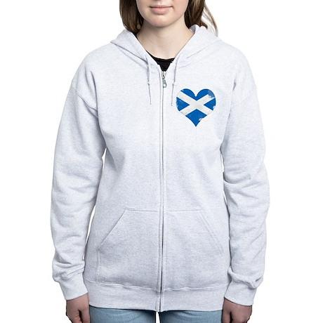 A Scottish Heart Women's Zip Hoodie