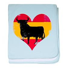 The Spanish Bull, El Toro de España baby blanket
