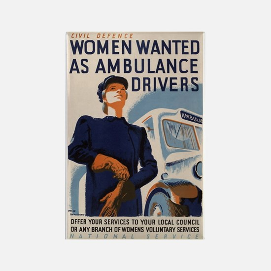 Civil defence: women wanted as ambulance drivers R