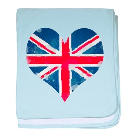 A British Heart baby blanket
