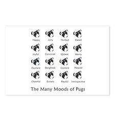 Pug Moods Postcards (Package of 8)