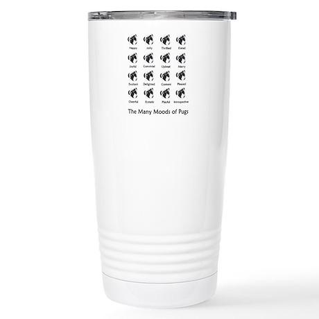 Pug Moods Stainless Steel Travel Mug