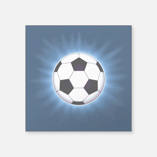 "Soccer Ball Square Sticker 3"" x 3"""