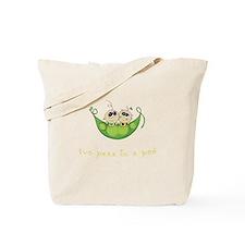 Twin Boy Girl Two Peas Tote Bag