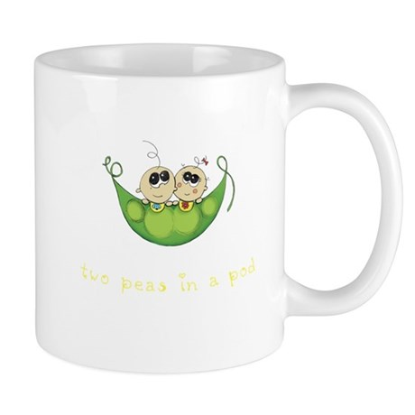 Twin Boy Girl Two Peas Mug