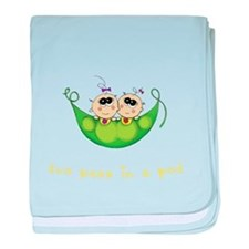 Two Peas in a Pod_Girl/Girl baby blanket
