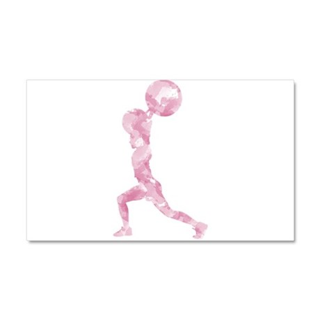 Watercolor Lift in Pink Car Magnet 20 x 12