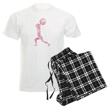 Watercolor Lift in Pink Men's Light Pajamas