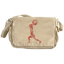 Watercolor Lift in Red Messenger Bag