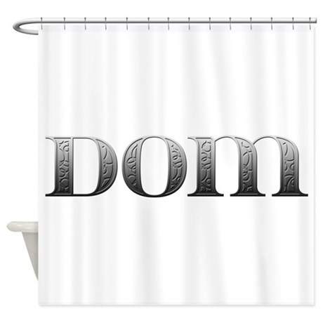 Dom Carved Metal Shower Curtain