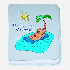 Dog Days of Summer baby blanket
