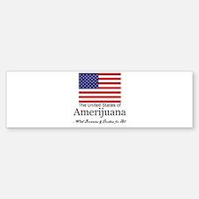 amerijuana.png Bumper Bumper Sticker
