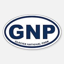 Glacier National Park Sticker (Oval)